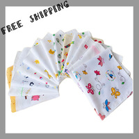 [TOWEL] 35*35cm 20g 10pcs/lot Cotton Baby Wash Cloth Infant Saliva Towel Baby Feeding Towel Handkerchief Baby's Towels Baby Bibs