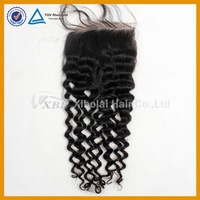 Brazilian 5A+ virgin human hair deep wave lace closure