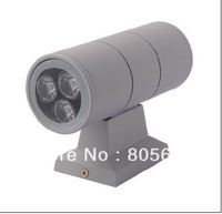 Good Quality up and down led wall light outdoor/epistar 110lm/6w outdoor led wall lamp IP65