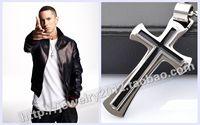 Eminem male fashion titanium cross pendant hiphop necklace