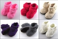 Baby handmade cotton knitted baby shoes baby toddler children shoes  5pair/lot