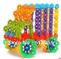 Hot Sale! 540 pcs Colorful Plastic Snowflake Blocks Educational Intelligence toy Building Blocks  Xmas Gift , Free Shipping