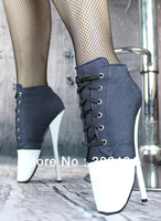 New arrival 18cm high-heeled shoes sexy ballet boots sexy boots ladygaga shoes
