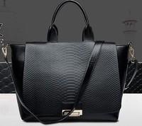 Sale New 2014 Fashion Brand Snakeskin Leather Women Handbag Shoulder Bags Women Messenger Bags Travel AR486 Q6