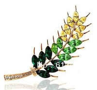 HIGH FASHION EAR OF WHEAT BROOCHES MODELS WITH CZ FOR WOMEN FREE SHIPPING