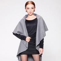 2013 autumn and winter women wool coat autumn and winter vest outerwear waistcoat mantissas cape cloak mny201