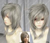 Ff seven gold grey slammed fluffy short hair wig cos