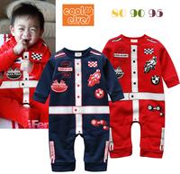 2013 baby boy Racer romper,3pcs/lot,kids long sleeve jumpsuit,