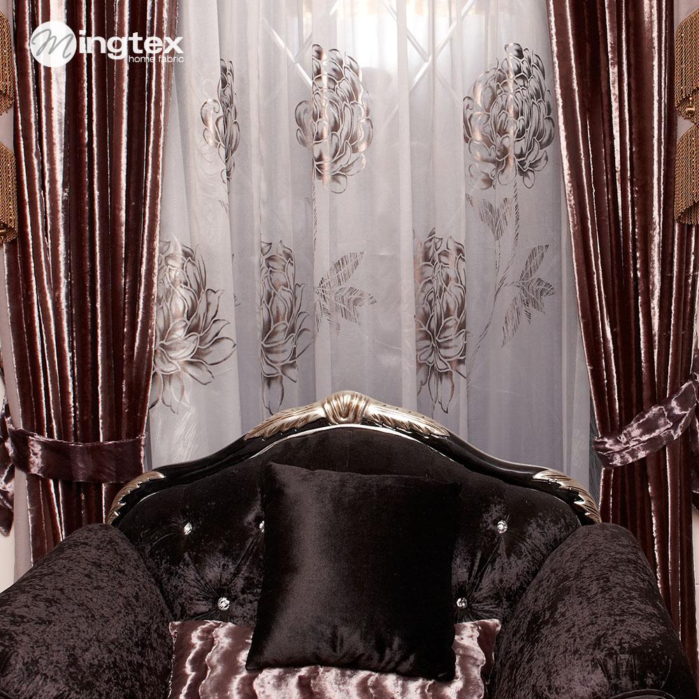 Cortina circulou a qualidade do tecido da cortina quarto cortina de pelúcia(China (Mainland))