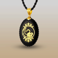 Natural obsidian fashion pendant white jade pendant silver gold plated jade pendant setting fashion elegant princess