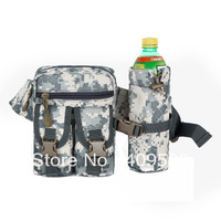 Camouflage belt water bottle waist pack outside sport small waist pack ride water bottle bag multifunctional travel waist pack
