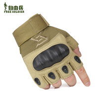 Outdoor tactical armor gloves safety gloves super-fibre semi-finger tactical gloves