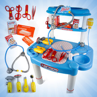 Deluxe child toy set child artificial medicine box doctor box stethoscope