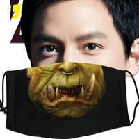 Black personality fashion cartoon 100% cotton masks 5 sk015