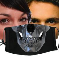 Personalized black skull masks fashion 100% cotton masks 5 kl015