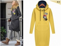 Free Shipping 2013 winter women's long sleeved Hoodie dress