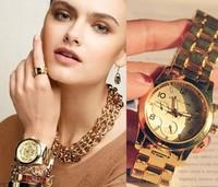Fashion popular around the world wristwatch, alloy double rhinestone Ladies fashion watch