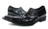 Free Ship! Personalized Iron Pointed Toe Fashion men wedding shoes, Men's Dress Shoes, Men's Genuine Leather Boots, EU38-46