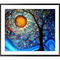 High quality Exquisite Embroidery Cross Stitch Kits Home Decor cross stitch sets Crafts Moon Light Shadow Big Tree AD-17