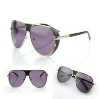 Gothic female ratio reflective sunglasses personalized sunglasses angle metal toad skin S891