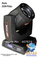 HOT P-H-I-L-I-P-S Lamp 200W 5R Sharpy Moving Head Beam With16CH,Gobo+Beam Effects With 1 Rotating 8-face Prism &Frost Function