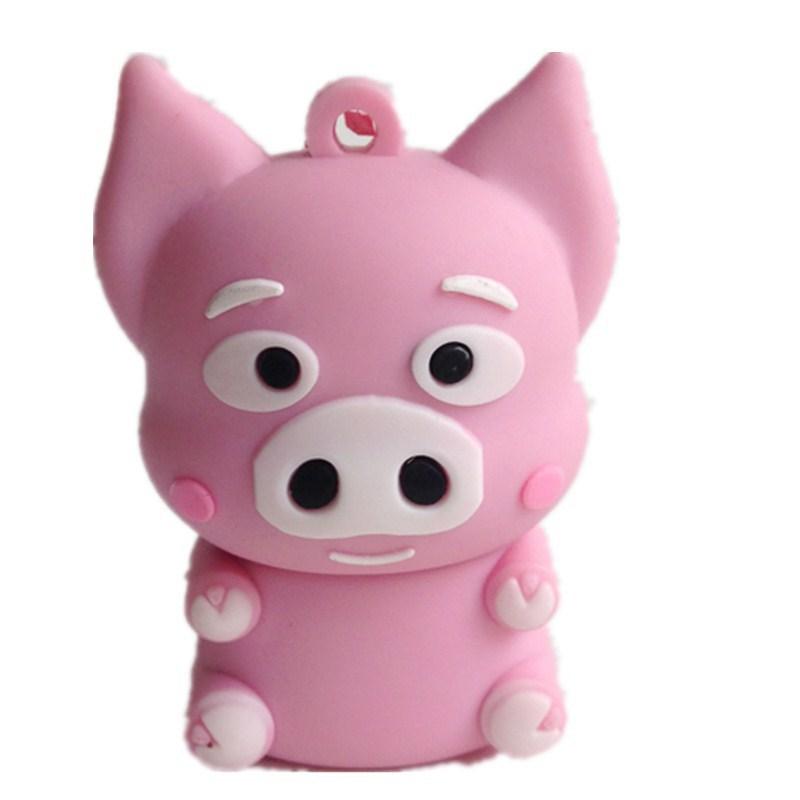 pen drive cartoon rose pet pig animal 4gb/8gb/16gb/32gb Pig bulk usb flash drive flash memory stick pendrive gift free shipping(China (Mainland))