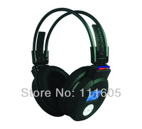 LCD display sd card MP3 wireless headphone with integrated FM radio