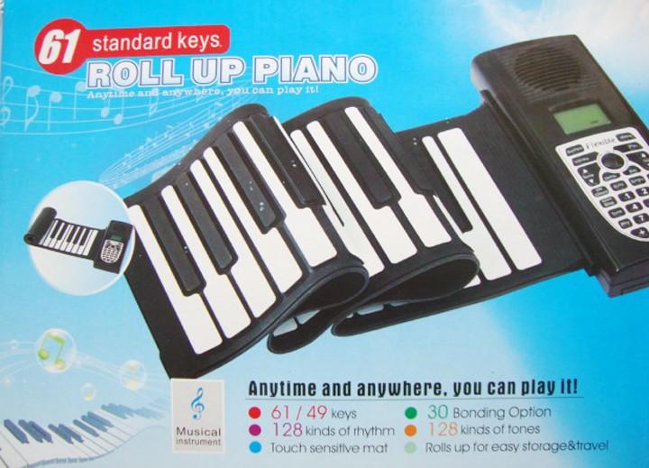 80% discounts Digital Electric Piano 61 Key Soft KeyBoard Flexible Roll Up Piano with 128 tones MIDI Port , Free shipping(China (Mainland))
