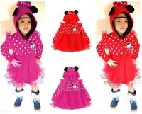 Retail girls fashion Skirt Minnie coat Cute Minnie mouse children Outerwear (90-100-110-120-130)girl's top coat