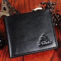 Top Quality Mens Genuine Leather Wallet For Men Fashion POLO Man Purse Black Brown Color Free Shipping
