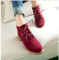 Fashion vintage 2013 lacing scrub velvet women's casual shoes platform shoes single shoes martin boots