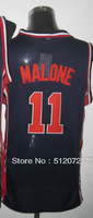 #11 Karl Malone Men's Authentic 1992 Olympic Game Dream Team USA Navy Basketball Jersey
