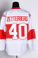 #40 Henrik Zetterberg Men's Authentic 2009 Winter Classic White Hockey Jersey