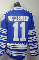 #11 Jay McClement Men's Authentic 2014 Winter Classic Blue Hockey Jersey