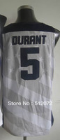 #5 Kevin Durant Men's Authentic 2012 Olympic Game Dream Team USA White Basketball Jersey
