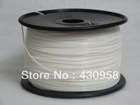 white color Makerbot/reprap/mendel/UP 3D printer filaments ABS/PLA 1.75mm/3mm 1kg(2.2lb) High quality