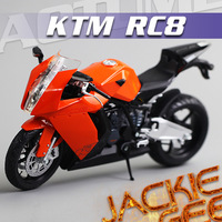 Free shipping 1:12 RC8 Motorcycle Alloy Model  Toy 364# Doll White or Orange
