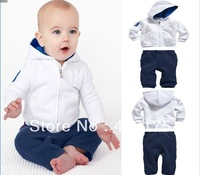 Fahion 2013 Children clothing set baby clothing set hoodies+pant baby boy polo suit kid long sleeve sport suit