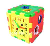 Hot Sale! Plastic Baby Shape Box Child Baby Puzzle Box Educational Toys Baby Birthday Gift , Free Shipping JM002