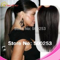Best Selling 100% malaysian human hair weave black natural grade 5a top grade fake hair ponytails