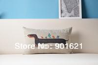 Free shipping Novelty gift dachshund Dackel Teckel dog Birds friends pattern cushion cover home car decorative throw pillow case