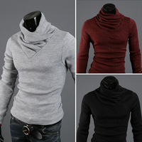 2013 autumn and winter thickening california rabbit fur cashmere slim male unique comfortable turtleneck Bottoming sweaters