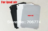 For Ipad 5 Tablec For Ipad air back Guard Vinyl Carbon Fiber Sticker 50pcs/lot Free Shipping VIA CP