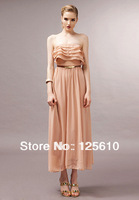2014 new women's boutique fashion printed chiffon beach dress flower girl dress romantic