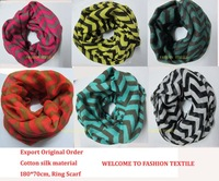 Fashion Infinity Wave Scarves Winter New 2013 Woman Long Cotton Silk Shawl  Scarf l pcs Free Shipping
