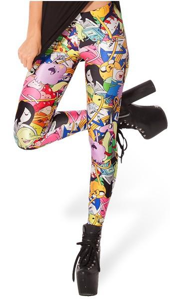 EAST KNITTING BL-292 Adventure Time Bro Ball Leggings 2014 fashion new women Digital print Galaxy Pants Free shipping(China (Mainland))