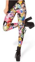 EAST KNITTING BL-292 Adventure Time Bro Ball Leggings 2014 fashion new women Digital print Galaxy Pants Free shipping