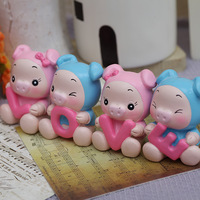 Love pig decoration home decoration car decoration crafts birthday married