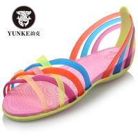 Hot Selling Summer Fashion New Arrive Women Falt Garden Shoes Waterproof Comfortable Beach Shoes USA Size 6-9 Five Colors 001