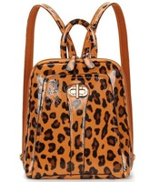 Fashion leopard print 2013 preppy style backpack women's casual school bag LF06666
